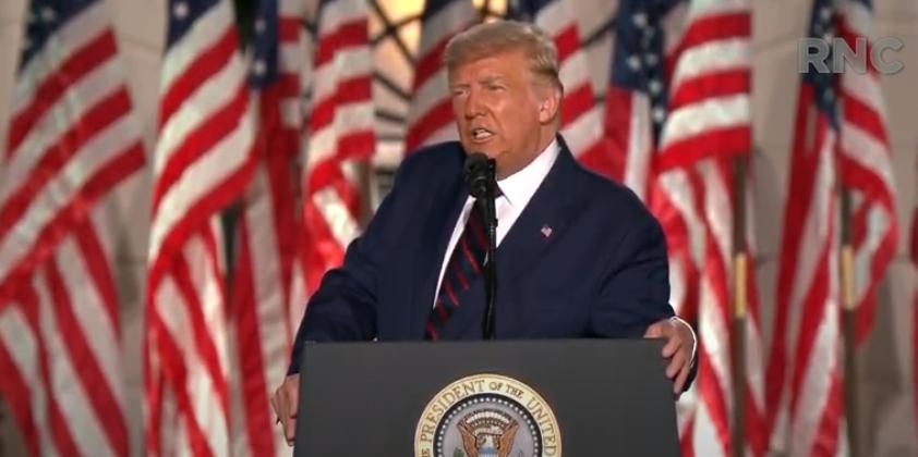 特朗普正式接受共和党总统候选人提名:对美国未来4年的光明未