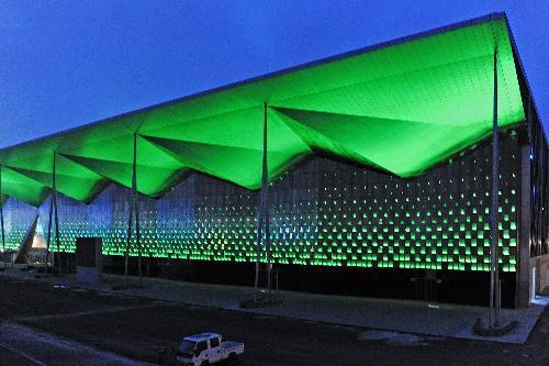 Gorgeous light debugging at Shanghai Expo park CCTV-International