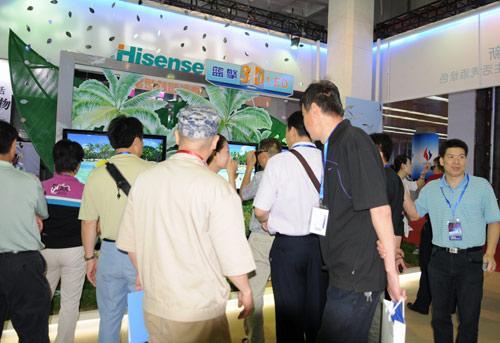 海信的最新3D-LED液晶电视吸引了众多观众