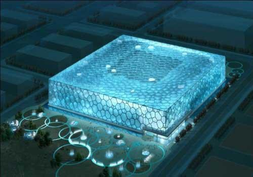 The National Aquatics Center, also known colloquially as the Water Cube,  was a major venue for the 2008 Olympic Games.
