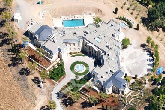 价值1亿美元的豪宅俯视图