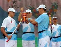 Universiade : le relais de la torche à Longgang