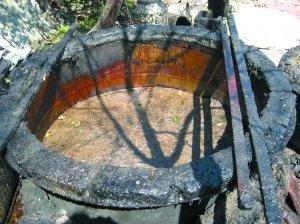 浙江宁海县一处初炼地沟油的作坊