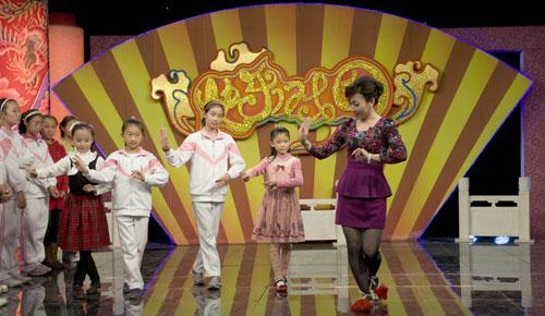 嘉宾唐禾香老师教小朋友们花旦动作