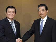 Rencontre entre les présidents chinois et vietnamien à Honolulu en marge du sommet de l´APEC