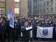 В Сербии бастуют полицейские, требуя повышения зарплаты