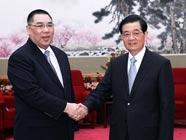 Председатель КНР Ху Цзиньтао встретился с главой администрации САР Аомэнь
