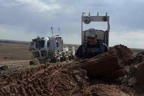 在沙漠中进行测试