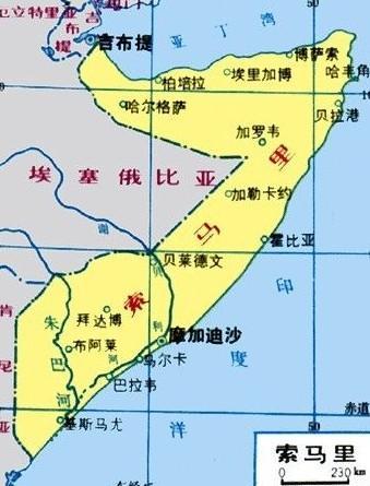 索马里地理位置