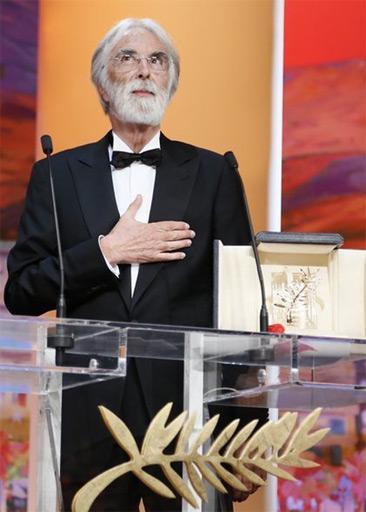 颁奖现场:迈克尔-哈内克《爱》获最佳影片金棕榈奖