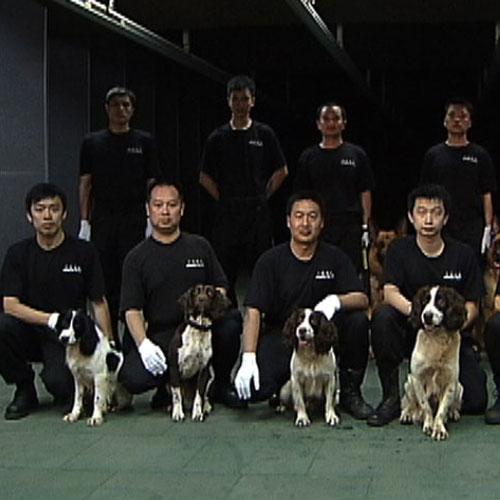 广东省广安厅警犬基地2012年警犬精英赛参赛队员
