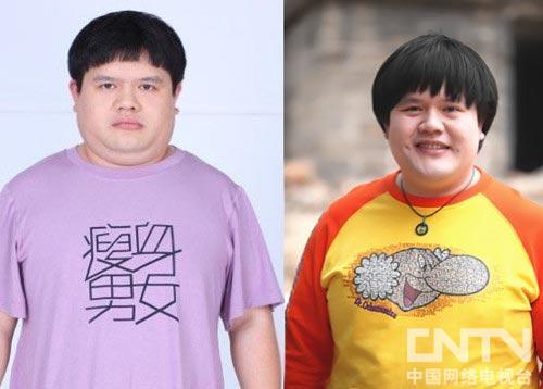谢波减肥前后对比照