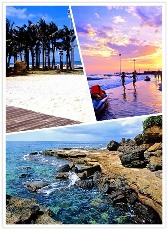 北海银滩和涠洲岛美丽的风景.