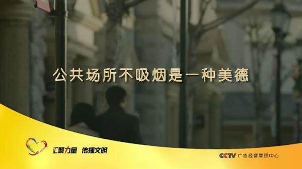 中央电视台多频道集中播出禁烟主题公益广告图片
