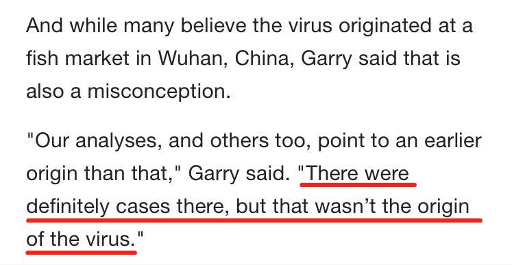 美国科学家:武汉绝不是新冠病毒源头