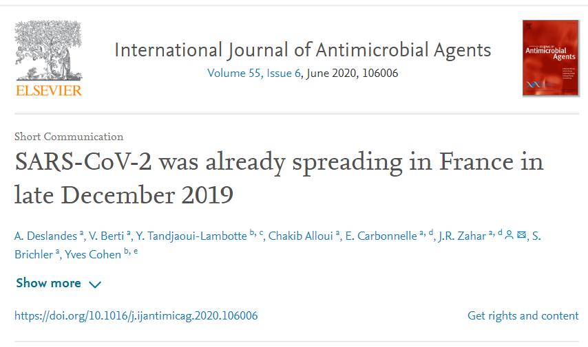 《【恒达平台怎么注册】国际权威杂志发表研究报告称新冠病毒去年12月已在法国传播》
