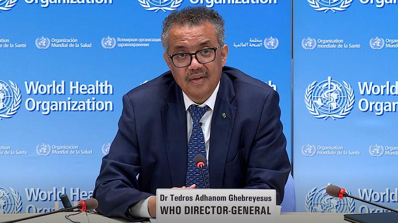 世卫组织总干事:应采取基本公共卫生措施遏制病毒传播