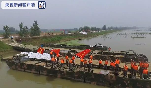 3000余名军民五天五夜持续奋战 安徽颍上县戴家湖漏水涵闸封堵成功