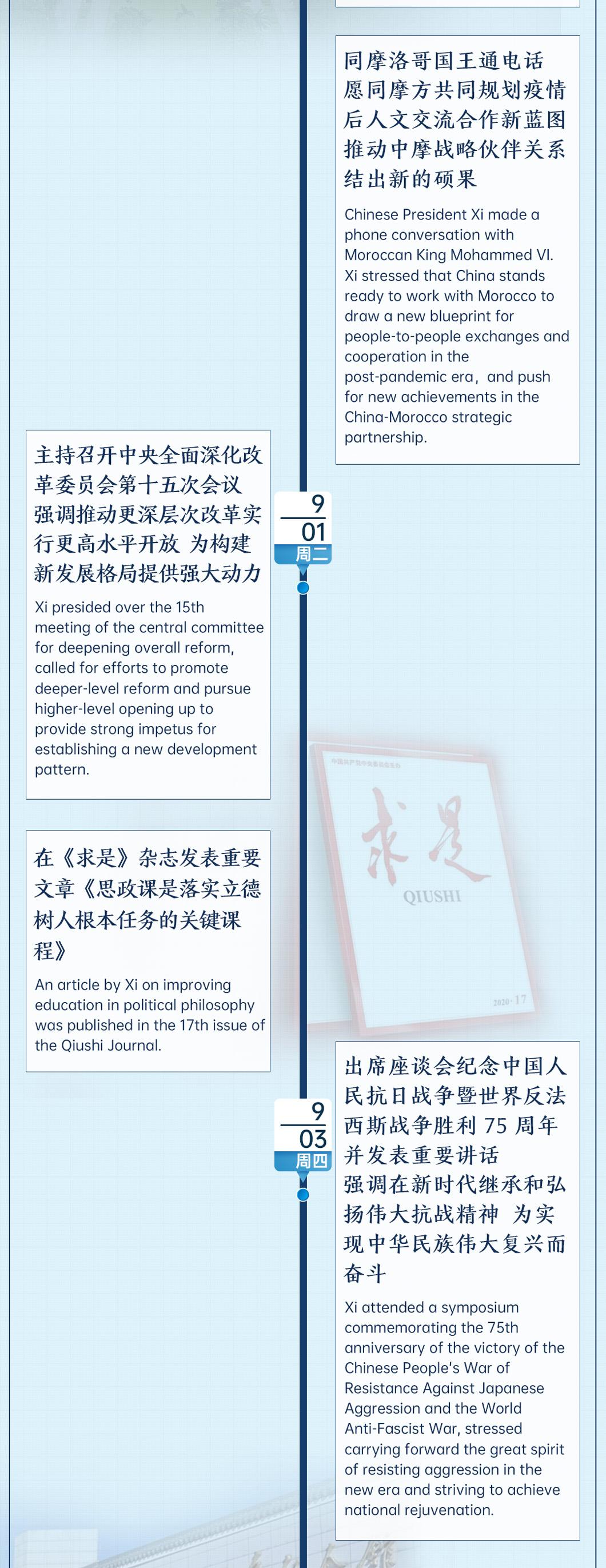 时政微周刊丨总书记的一周(8月31日—9月6日)