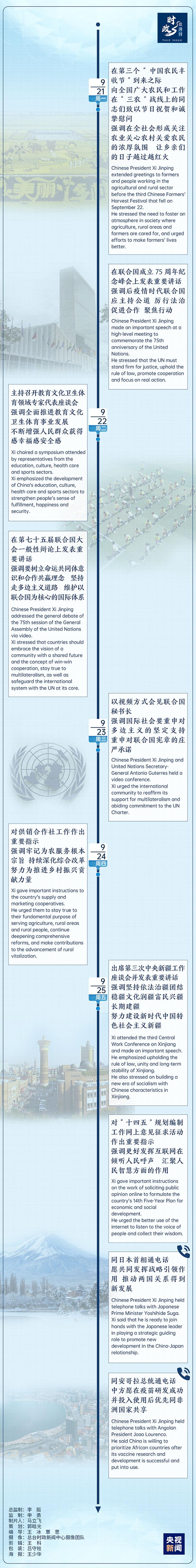 《【华宇娱乐平台首页】时政微周刊丨总书记的一周(9月21日—9月27日)》