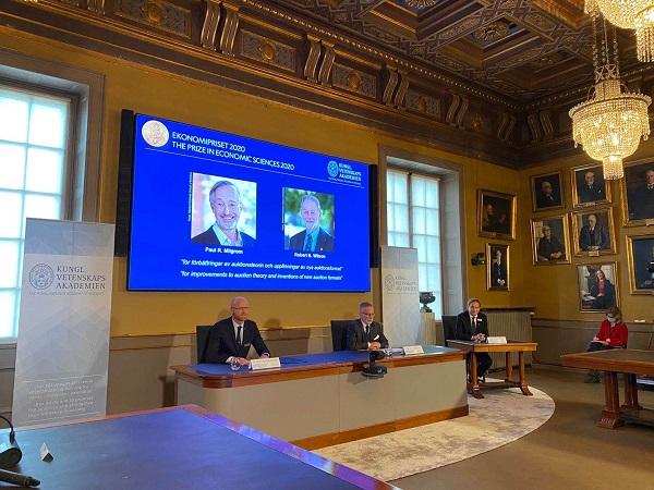 2020年诺贝尔经济学奖揭晓 授予两名美国斯坦福大学教授