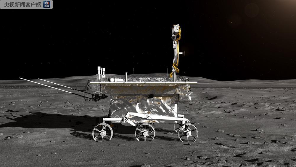 家里来人了 月球车玉兔二号正式命名 在月背留下第一道痕迹