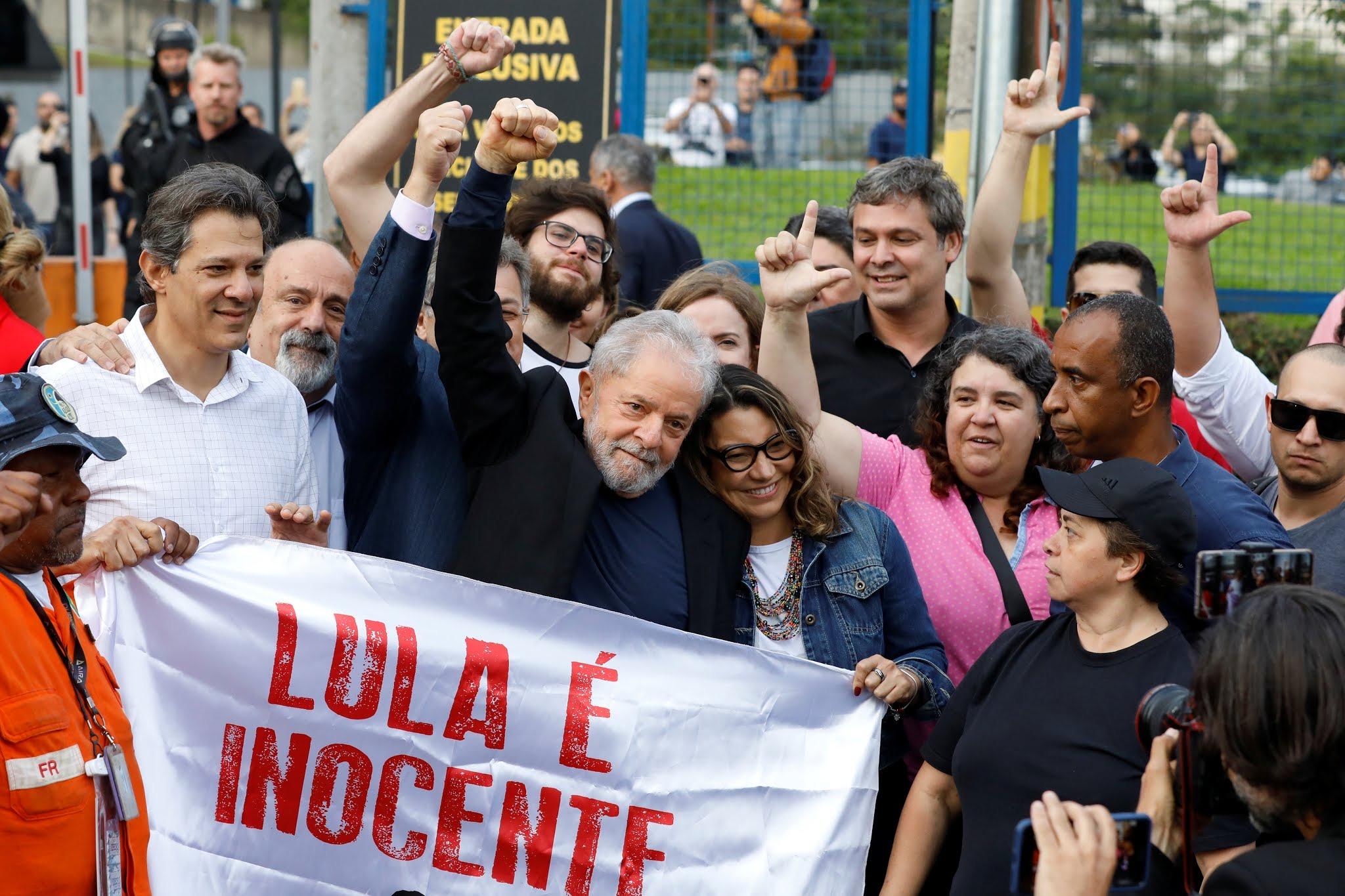 巴西前总统卢拉正式出狱 已因贪腐行为入狱580天