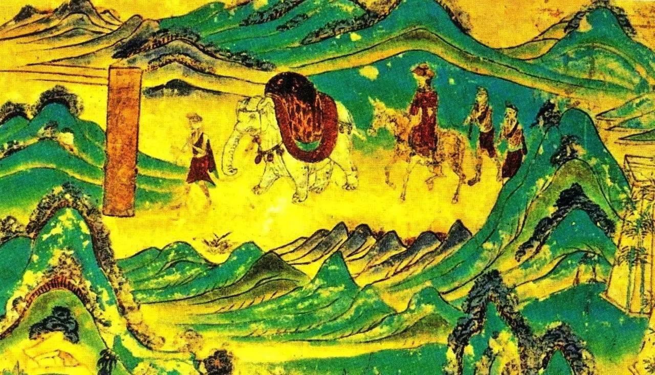 △敦煌壁画中的玄奘西行图图片