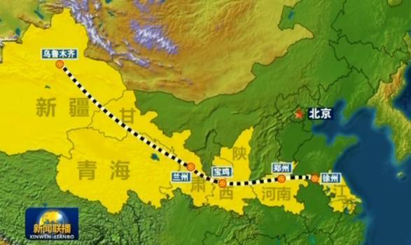 连接陕西宝鸡和甘肃兰州的宝兰高铁今天开始全线满图试运行.