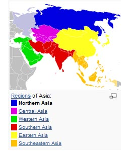 <em>East Asia is a subregion of Asia that can be defined in either geographical or cultural terms. Geographically, it covers about 12,000,000 km&sup2;, or about 28 percent of the Asian continent, about 15 percent bigger than the area of Europe. </em><a></a><br><center><font color=#cc0000>----------------------------------------------------------</font></center><br>