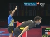 [乒乓球]张继科携王皓身披国旗 尽显中国骄傲