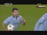 [欧冠]阿圭罗点射球门右下角 曼城扳平比分