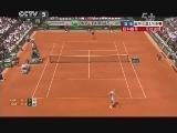 2013年法国网球公开赛女单1/4决赛 扬科维奇VS莎拉波娃 第三盘 20130605