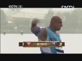 [2013大力士争霸赛]周荣VS夏蒙·苏莱曼 后抛啤酒桶 20130804