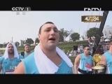[2013大力士争霸赛]基恩·弗朗索瓦·卡伦VS亚诺·汉姆斯 后抛啤酒桶 20130804