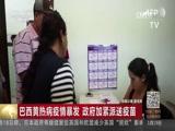 [中国新闻]巴西黄热病疫情暴发 政府加紧派送疫苗