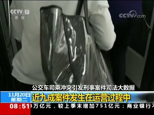 [朝闻天下]公交车司乘冲突引发刑事案件司法大数据 以危险方法危害公共安全罪近四成