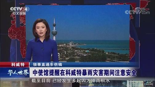 中使馆提醒在科威特暴雨灾害期间注意安全 华人世界 2018.12.07 - 中央电视台 00:00:27