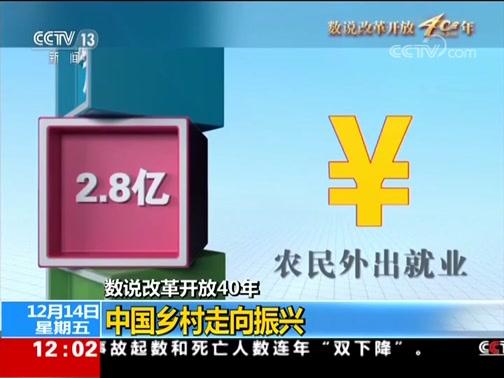 [新闻30分]数说改革开放40年 中国乡村走向振兴