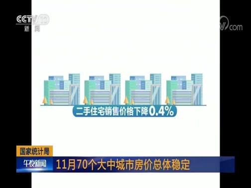 [午夜新闻]国家统计局 11月70个大中城市房价总体稳定