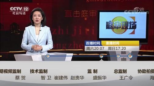 《庭审现场》 20190511 乡村恶势力团伙落网记
