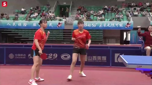 [乒乓球]二青会体校甲组女子双打决赛:江苏VS山东