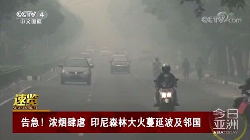 [今日亚洲]速览 告急!浓烟肆虐 印尼森林大火蔓延波及邻国