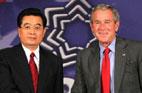 2007<br>Entretien entre Hu Jintao et George W. Bush à Sydney