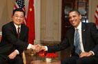2009<br>Le président chinois rencontre son homologue américain Barak Obama à Londres
