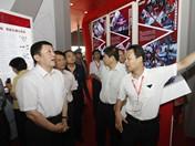 广电总局副局长张海涛来BIRTV2012CCTV展区参观指导