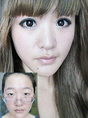雷人照片 丑女变美女的11步图片