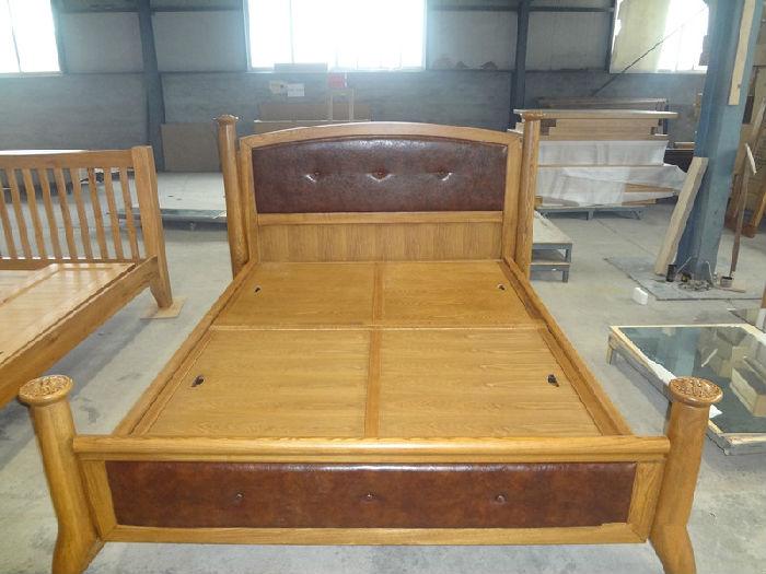欧式家具水曲柳木实木床双人床韩式田园床原木宜家床