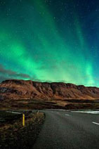 <b>amazing Northern Lights show in Iceland</b>