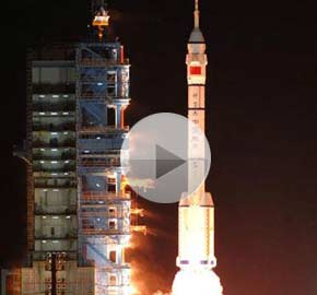 Full Video: China successfully launches unmanned spacecraft Shenzhou-8